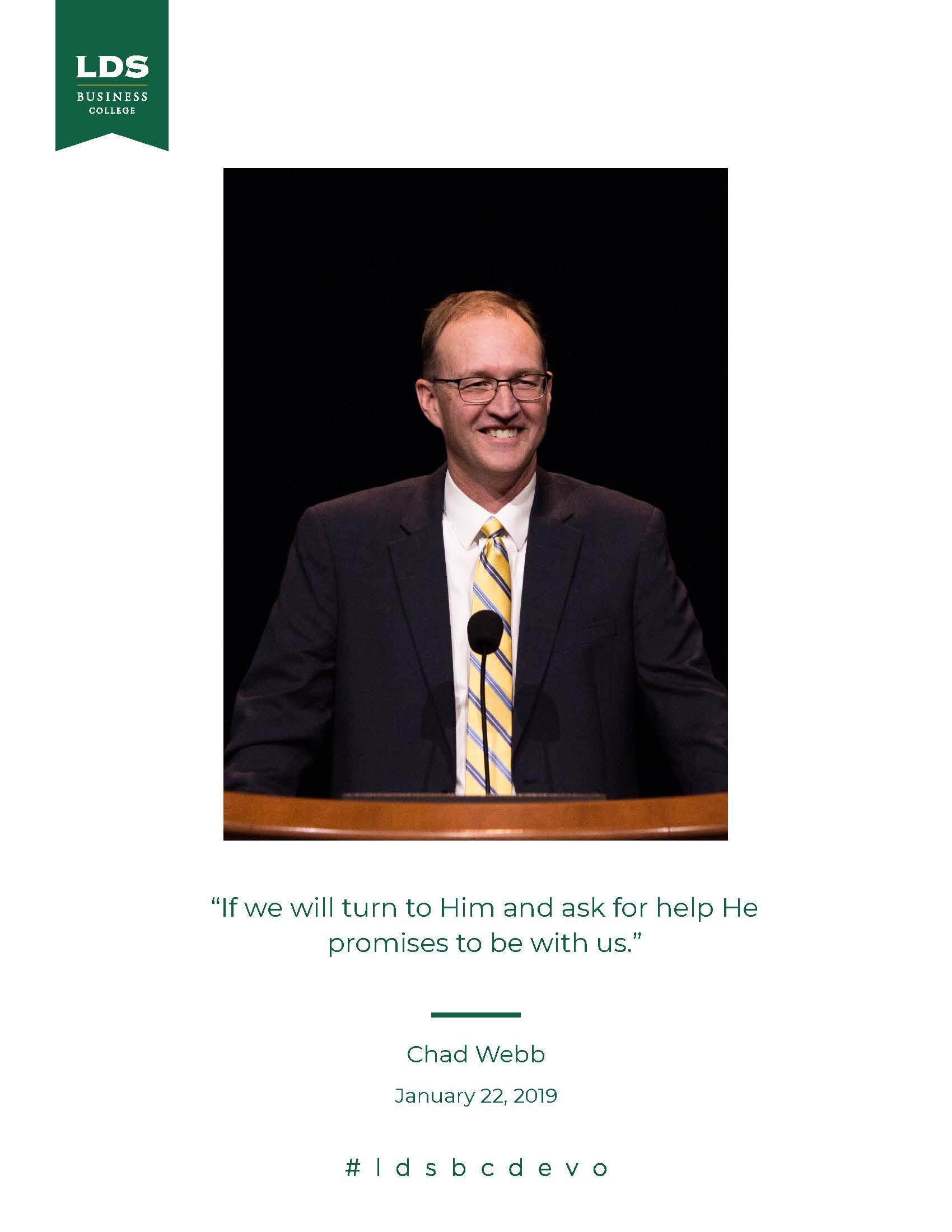 Chad Webb quote