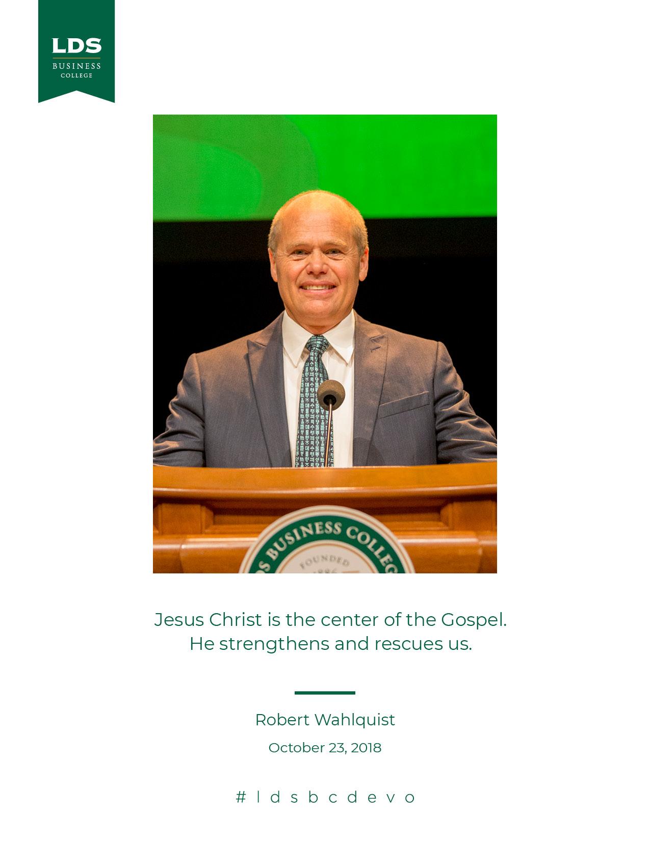 Robert Wahlquist devotional quote