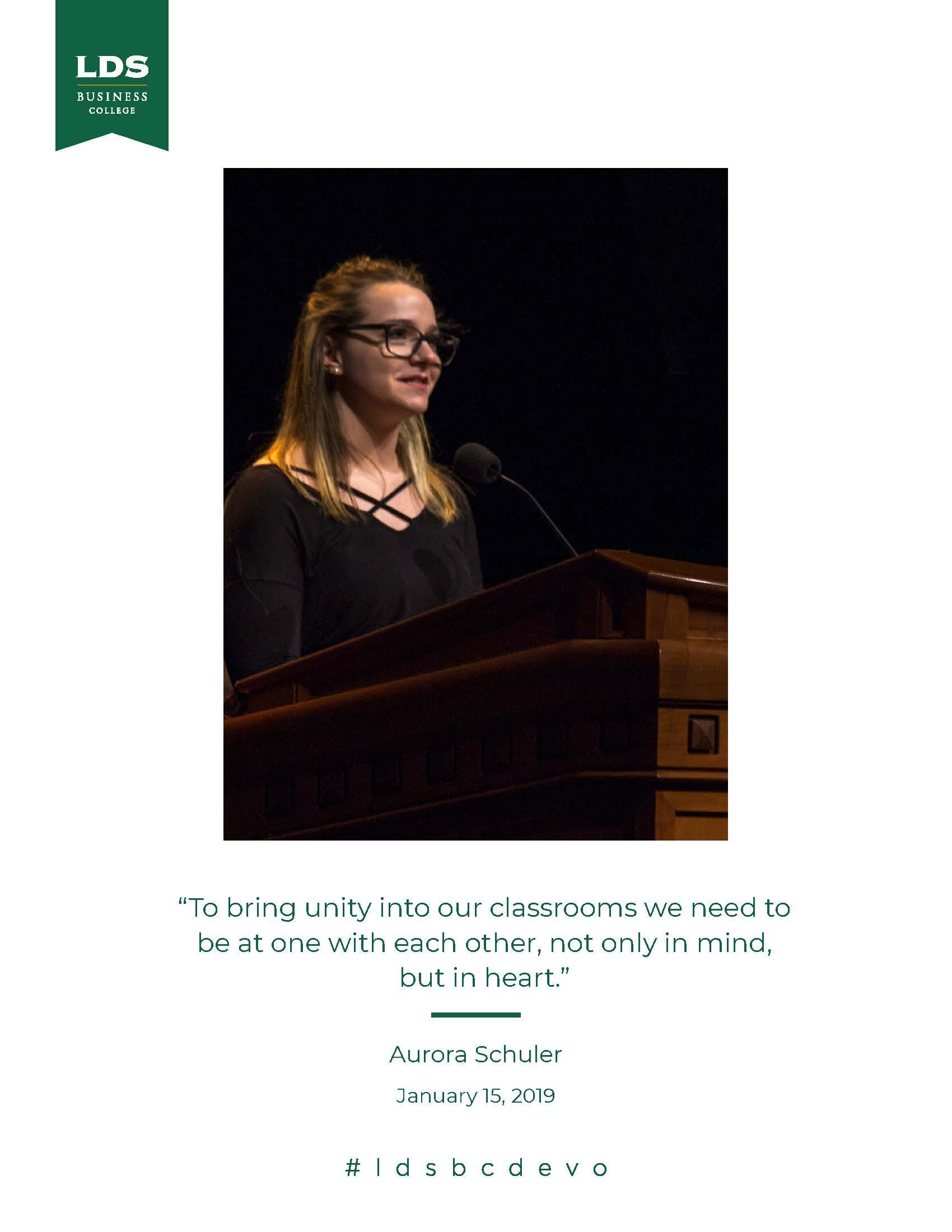 Aurora Schuler quote