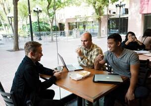 Associates socializing at the BC Café