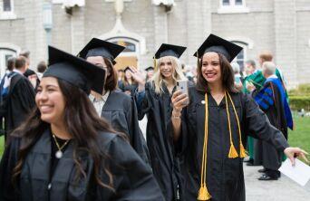 Graduation Woman with Phone