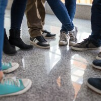 Students' shoes