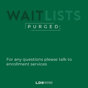 Wait Lists Purged