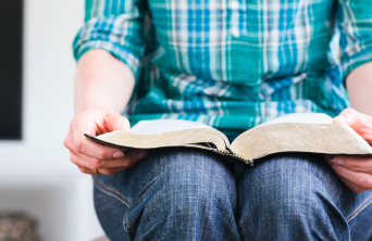 Student studying scriptures