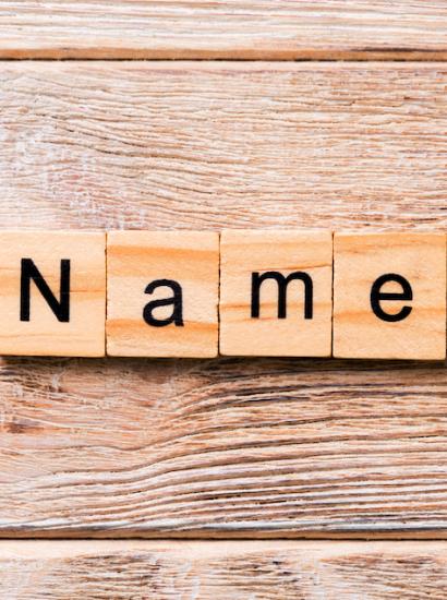 """blocks spelling """"name"""""""