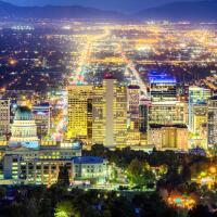 Salt Lake City Skyline at Night