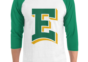 male looking at Ensign College hooded sweater