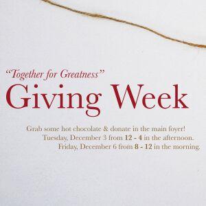 Giving Week