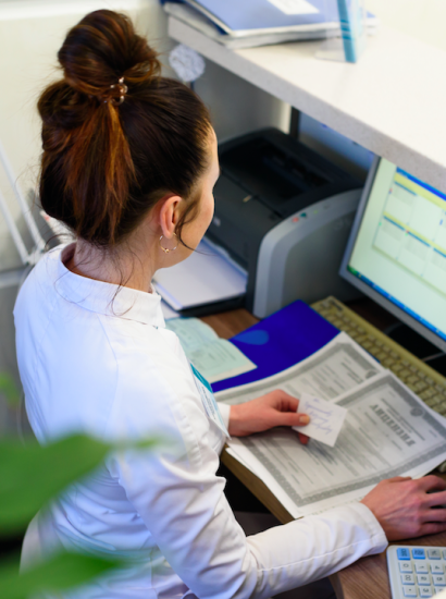 billing assistant at doctor's office