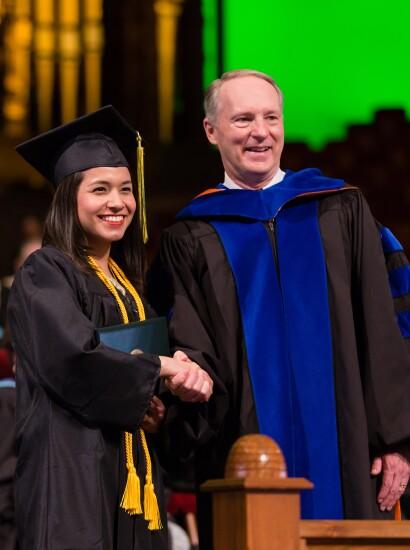 commencement walk of graduates
