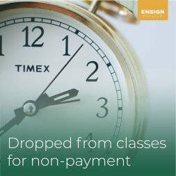 Dropped from Classes for Non-Payment