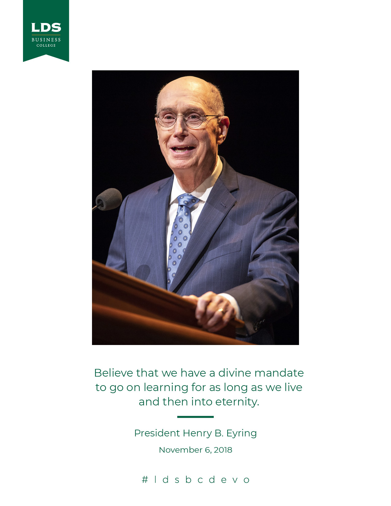 President Eyring 2018 Devotional Quote
